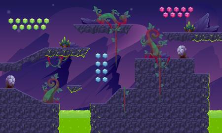 Illustration pour Purple Planet Game World - image libre de droit