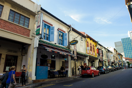 Shophouses along Ann Siang Hill, Singapore