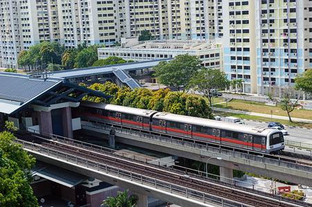 Singapore Mass Rapid Transit MRT Train Travel