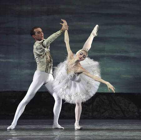 Russian royal ballet perform Swan Lake ballet at Jinsha theatre December 24, 2008 in Chengdu, China.