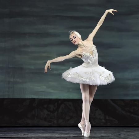 CHENGDU - DECEMBER 24: Russian royal ballet perform Swan Lake ballet at Jinsha theater December 24, 2008 in Chengdu, China.