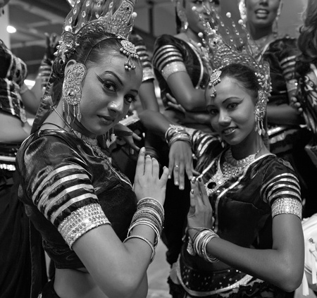 CHENGDU - MAY 29: Sri Lankan traditional dancers perform in the 3rd International Festival of the Intangible Cultural Heritage.May 29, 20011 in Chengdu, China.