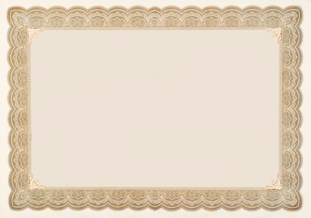 Photo pour Old stock certificate boarder.  The original content of the certificate has been removed, so just the boarder remains. - image libre de droit