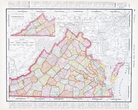 USA Landkarte Staat Virginia: Lizenzfreie Bilder und Fotos