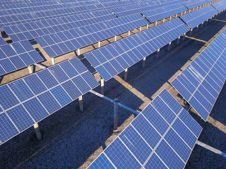 Photo pour Solar panels green energy light energy - image libre de droit