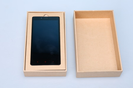 New Smart Phone In Packaging Box