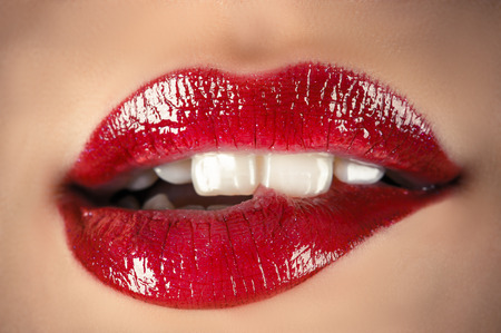 sensual lips closeup