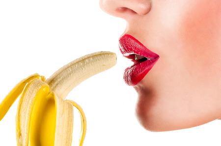Photo for sexy woman eating banana - Royalty Free Image