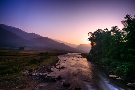 dawn in Tu Le - a northern highland Vietnam