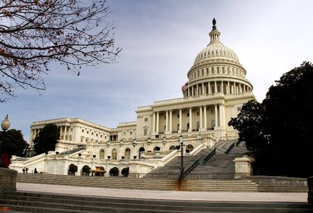 A view of the US capitol building