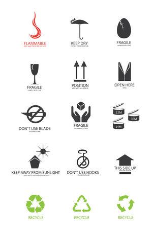 packaging symbols in vector format