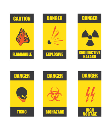 danger signs in vector format
