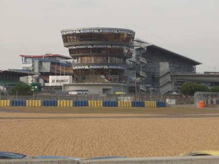 Control Tower at the Le Mans almost empty circuit.