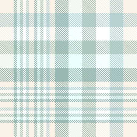 Illustration pour Seamless plaid pattern texture in weathered green and cream. - image libre de droit