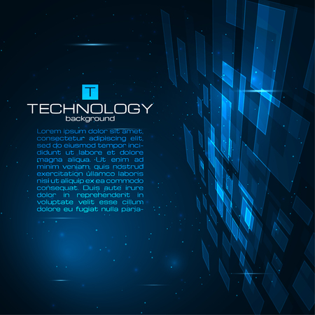 Photo pour Futuristic digital background with space for your text. Technology illustration for your business,science,technology artwork. Vector design element. - image libre de droit