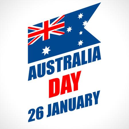 Vektor für Australia Day Background. National celebration card with flag and continent. Vector illustration. - Lizenzfreies Bild