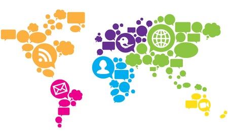 Social Media World Map