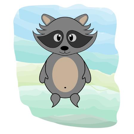 cute racoon