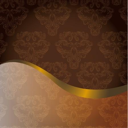 classic vintage damask pattern menu