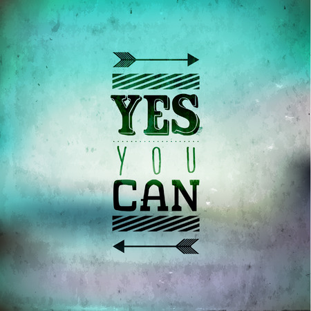Yes You Can typography