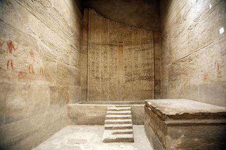 egyptian room inside an egyptian temple