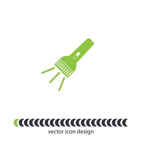 flashlight vector icon