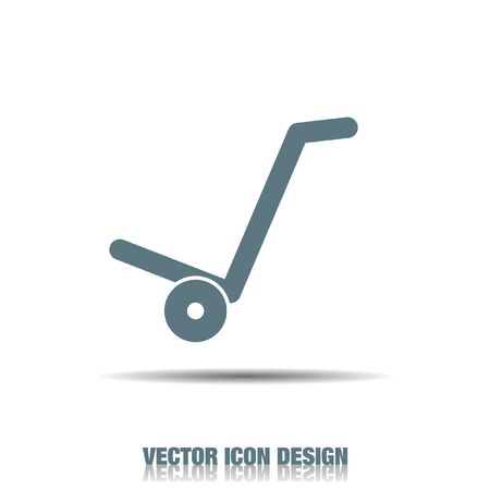 manual cart vector icon