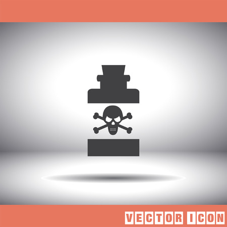 bottle with poison vector icon