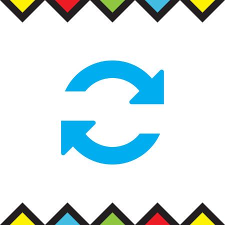 Refresh vector icon. Reload sign. Repeat symbol