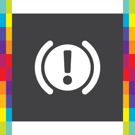 Car Parking Brake Signal vector icon. Attention symbol.