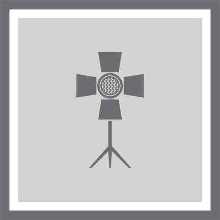 Spotlight vector icon. Flashlight sign. Movie and cinema symbol