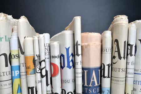 Foto de Row of newspapers - Imagen libre de derechos