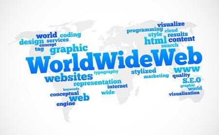 world wide web global text cloud