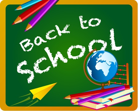 Back to school chalkboard banner