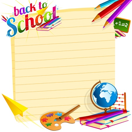 Photo for Back to school vector template - Royalty Free Image