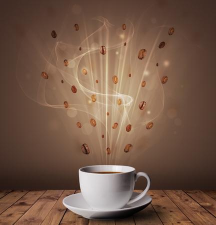 Foto de Steaming hot coffee - Imagen libre de derechos