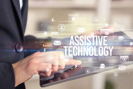 Photo pour Close-up of a tablet searching modern technology concept - image libre de droit