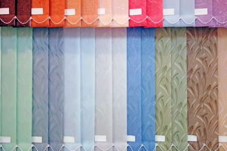Background from multi-colored vertical blinds