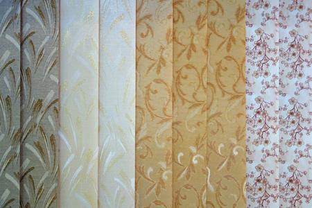 Photo pour Background from the curtains of textile blinds - image libre de droit