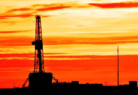 Photo for The drilling rig during sunset - Royalty Free Image