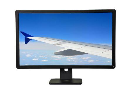 Photo pour The desktop display isolated on white background - image libre de droit