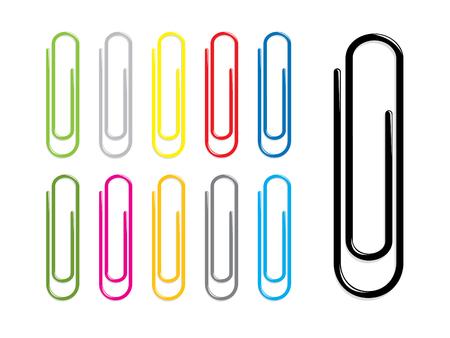 Illustration pour Paper clips - image libre de droit