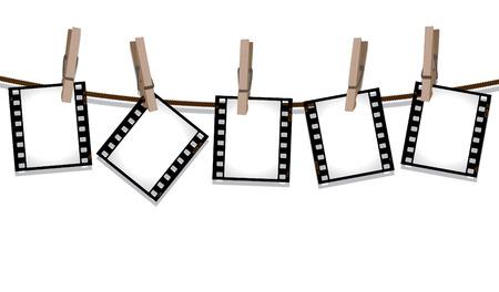 Row of film negatives