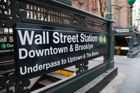 New York City Wall Street subway Station