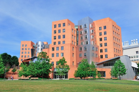Office building in Massachusetts Institute of Technology campus in Boston.