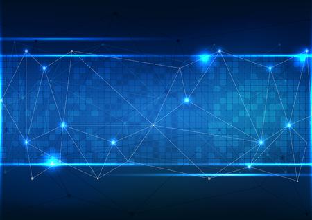 Photo pour Vector polygon background abstract technology communication data Science. - image libre de droit