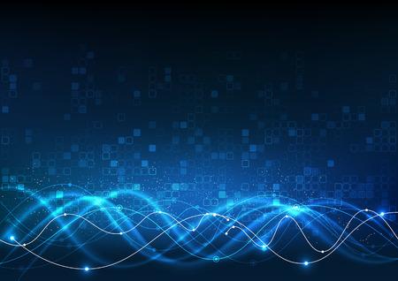 Illustration pour Vector background abstract technology communication data Science - image libre de droit
