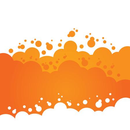 Orange Bubbly Background