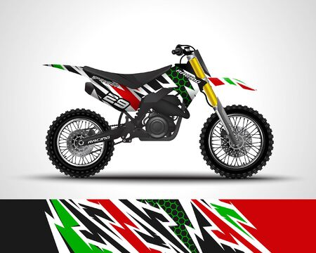 Illustration for Motorcycle sportbikes wrap decal and vinyl sticker design. - Royalty Free Image