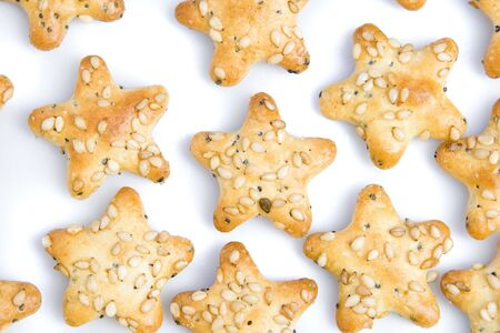 Background of star shaped crackers